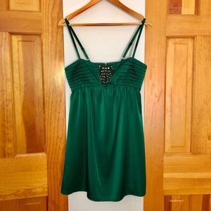 BCBG Maxazria Green Short Party Cocktail Dress